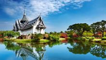 Sanphet Prasat Palace in the leafy subarbs of Bangkok