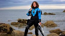 Aoife Mooney says the dive spots in Ireland are superb. PHOTO: FRANK McGRATH