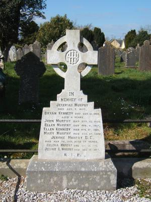 The reality for Jerome was that he couldn't cope with life very well upon his return and his family couldn't cope with his drinking - Jerome's grave in Cobh
