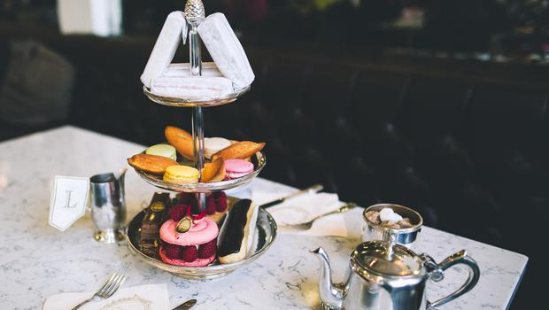 Ladurée Afternoon Tea for two people, €45, or with a glass of presecco, €60. Email AfternoonTea@