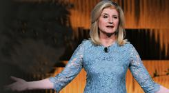 Taking time: Arianna Huffington talks during a Thrive event in New York