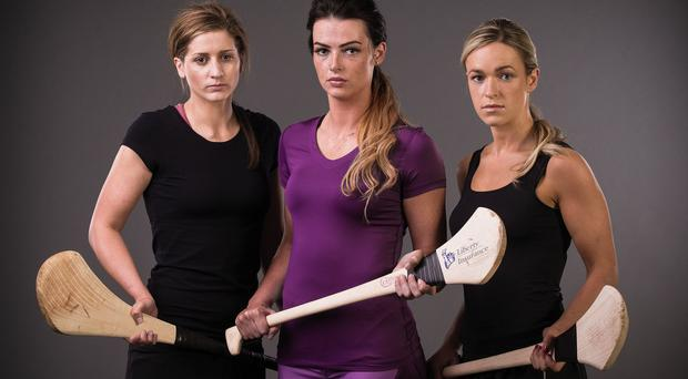 Mags D'Arcy of Wexford, Ashling Thompson of Cork, and Lorraine Ryan of Galway
