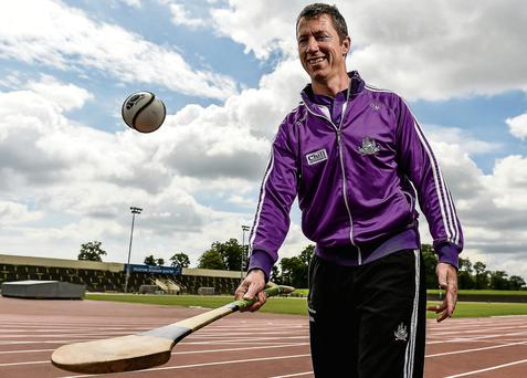 Skills: David Matthews holds the Irish 800m record and is now training the Cork senior hurling team. Photo: Sportsfile