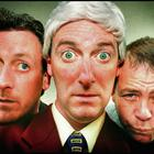 Funny side: Apres Match's Risteard Cooper (centre) as anchor Bill