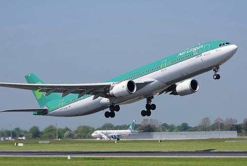 An Aer Lingus jet taking off