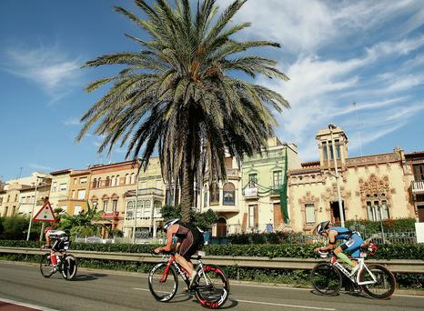 Catalon cycle: A 20k bike ride forms part of the Olympic course of the Barcelona triathlon. Photo: Getty