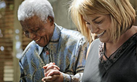 Firm friends : Zelda La Grange and the late Nelson Mandela.