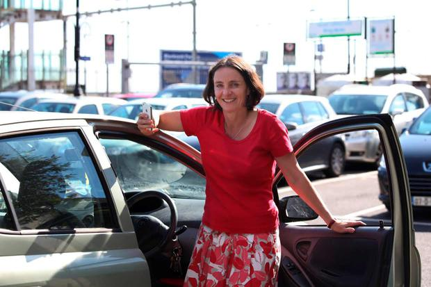 Stress free: Aideen Sheehan found paying for parking through her phone was easy and convenient.
