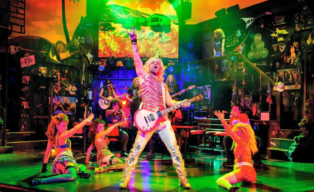 ROCK GOD: Ben Richards promises to have us up off our seats and dancing in the aisles at the musical Rock of Ages