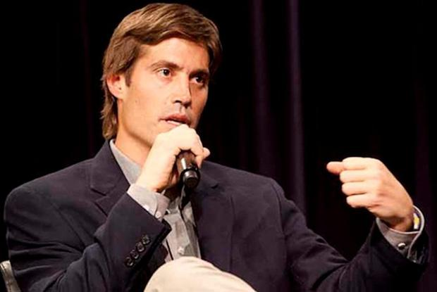 US journalist James Foley speaks at Northwestern University's Medill School of Journalism, Media, Integrated Marketing Communications in Evanston, Illinois, after being released from imprisonment in Libya Crdit: Reuters