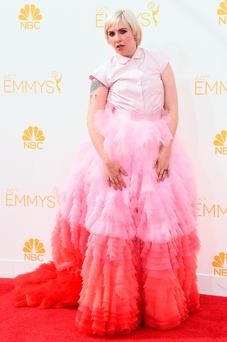 Lena Dunham at the 66th Annual Primetime Emmy Awards