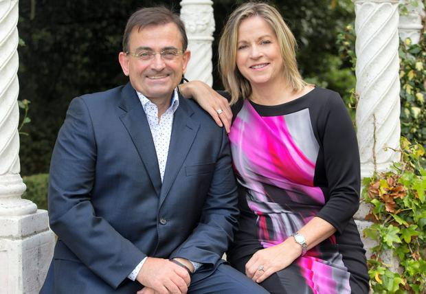 Well suited: Eddie Hobbs pursued his wife Mary Fehily-Hobbs with the persistence that he normally reserves for tackling the banking and insurance industries