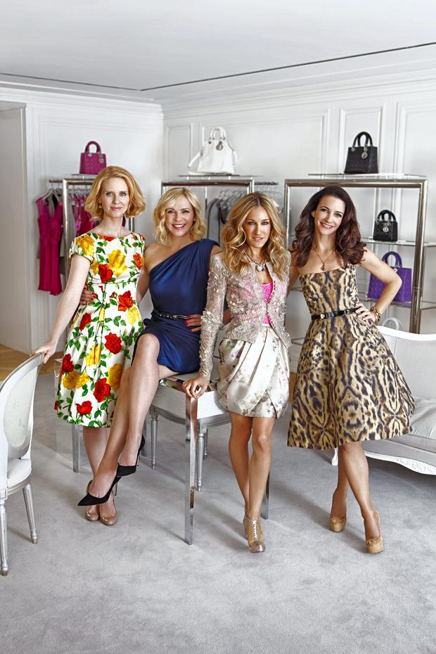 The cast of Sex and the City (from left), Cynthia Nixon, Kim Cattrall, Sarah Jessica Parker, and Kristin Davis
