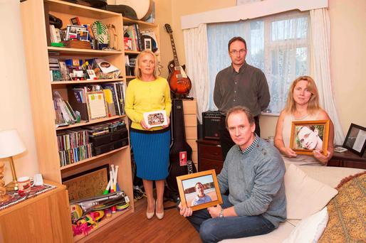 The siblings, Mary, Patrick(standing), Stephan and Laura of Matthew Fitzpatrick, who was found dead in suspicious circumstances in Germany in 2010