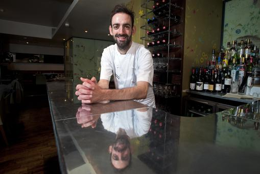 Poet in the kitchen: For three years Andy McFadden was the youngest Michelin-starred chef in London