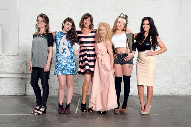 The girls taking part in RTE Two reality show Connected
