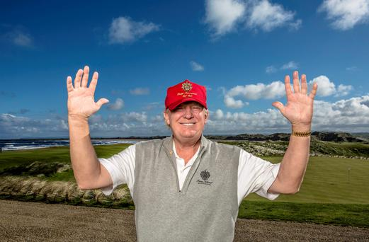 Donald Trump at Doonbeg golf resort
