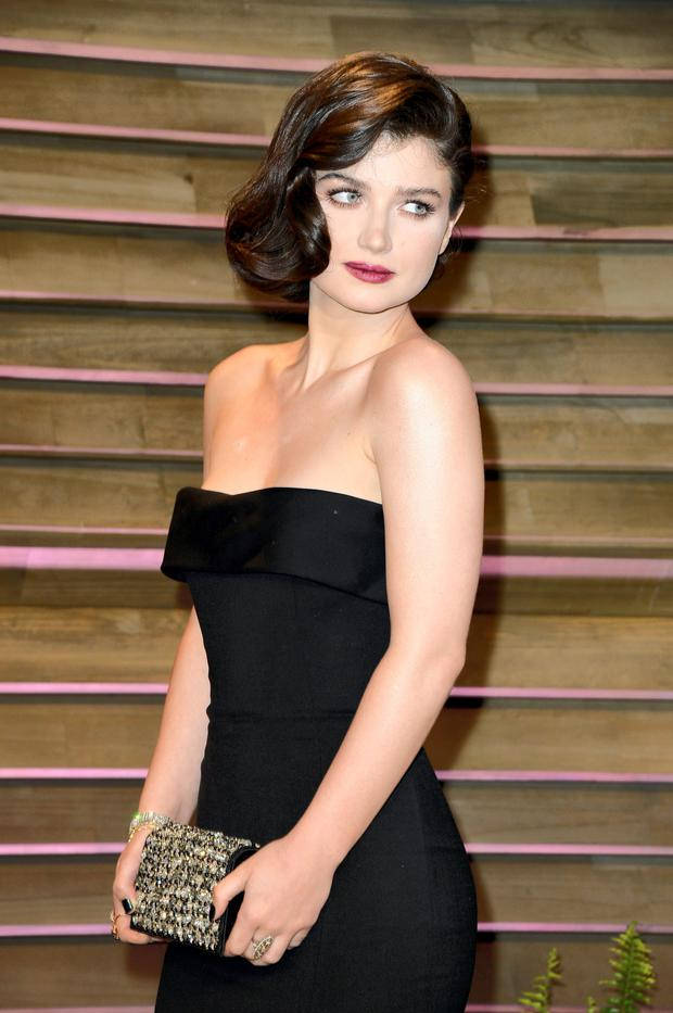 Eve Hewson arrives at the 2014 Vanity Fair Oscar Party.