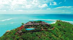 Richard Branson's luxury home, on Necker Island, in the Caribbean