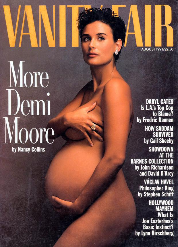 Demi Moore poses for her Vanity Fair cover.