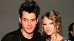 Taylor with her ex, John Mayer, in New York in 2009