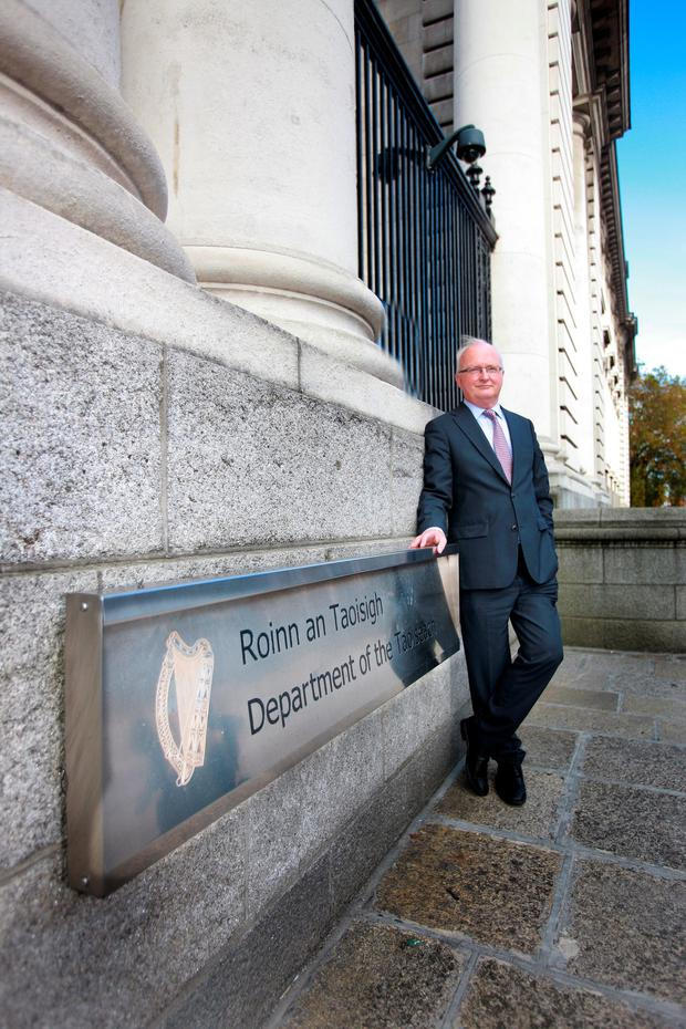 John Walshe at Government Buildings
