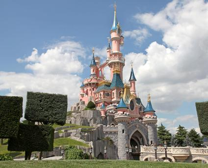 Castles in the air: Sleeping Beauty's Castle at Disneyland Paris in all its towering pink turreted majesty