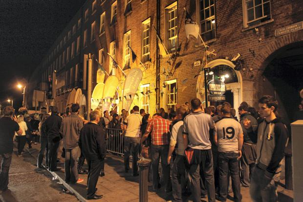 Popular: punters queue to get into Coppers