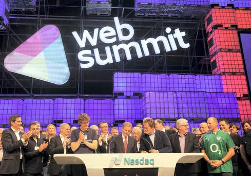 Enda Kenny rang the Nasdaq bell from the Web Summit in Dublin