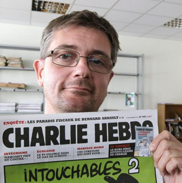 Stephane Charbonnier, also known as Charb, the murdered publishing director of the satirical weekly Charlie Hebdo
