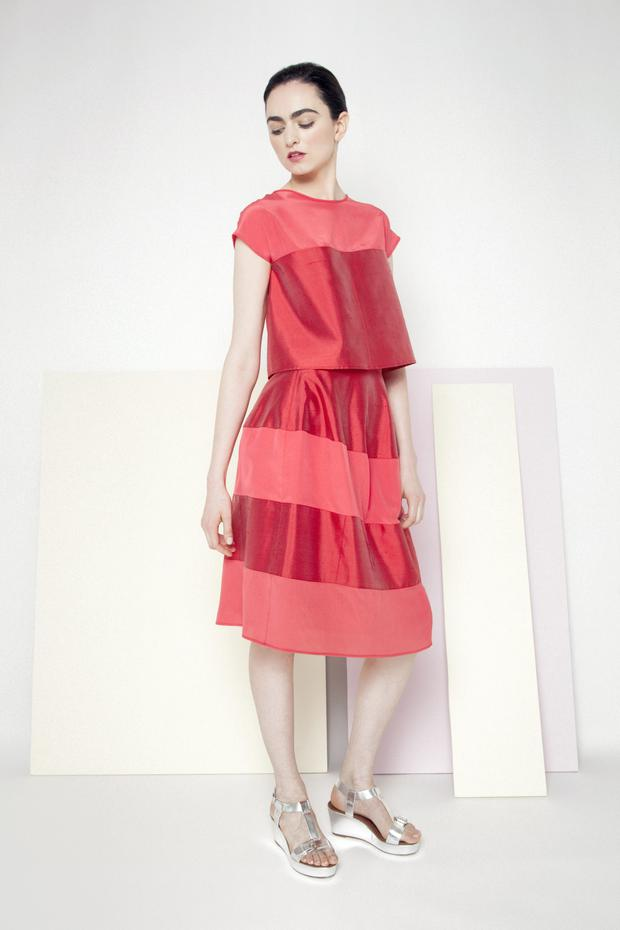 Top, €250, skirt, €275, both Manley, for stockists, see manley.ie