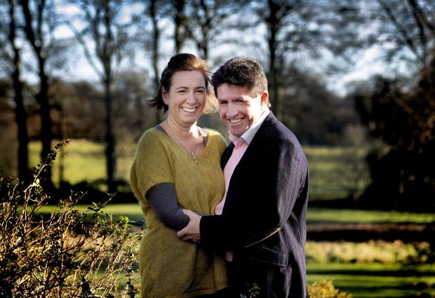 DEALING WITH THE HAND THAT'S DEALT: Paul Kimmage and his wife Ann. Photo: David Conachy