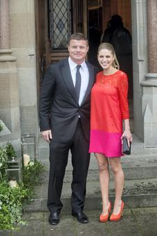 Amy Huberman and Brian O'Driscoll