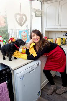 Coming clean: Vicki and her pooch Jacko at home in Stoneybatter
