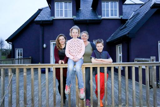 Knowing the value: Lisa O'Malley with her children, Molly, Ruby and Noah Patterson at home in Dromin, Bruff, Co Limerick. BRIAN GAVIN/ PRESS 22