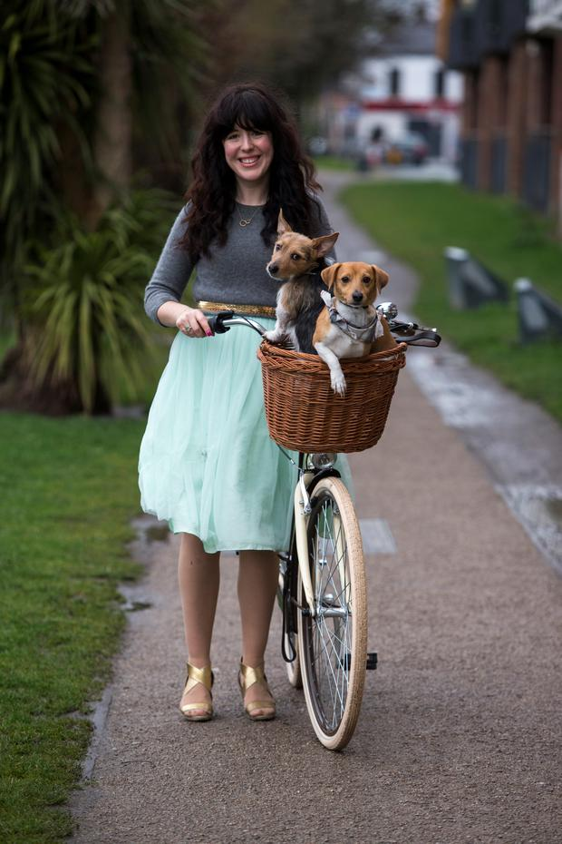 Chupi Sweetman and her dogs. Photo: Mark Condren