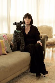 Caroline Kennedy and her late dog Gussie. Photo: Trevor Hart