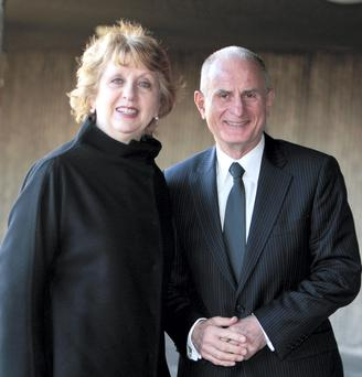 Former president Mary McAleese, pictured with her husband Martin, of 40 years, was subjected to abuse from online trolls after expressing her views on the upcoming marriage referendum.
