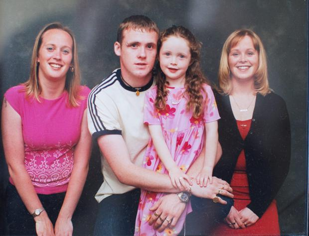 Josefa Hannon Flood's picture of her children. From left Sandra, David, Fiona and Nicola