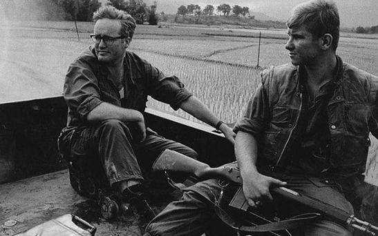 Travelling reporter: Richard West in Vietnam, the south-east Asian country's war with the US produced several books.