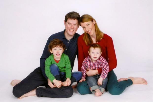 A collect family portrait of Sheila and Barry Boland with their sons Oisin (deceased) and Cillian