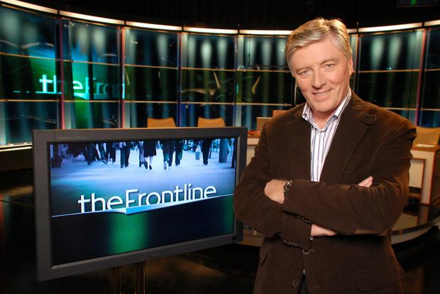 Pat Kenny at the helm of current affairs show, the Frontline