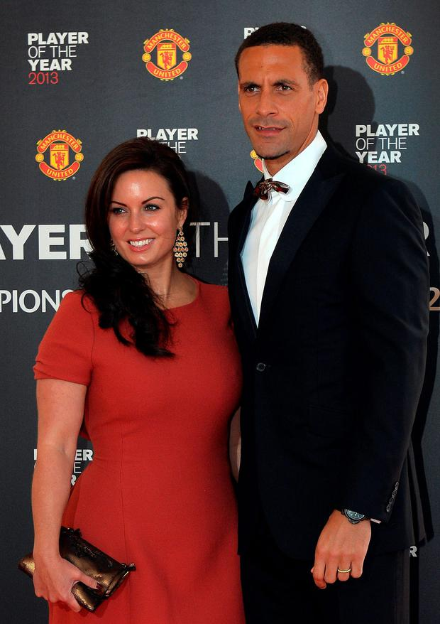 Rio Ferdinand and his late wife Rebecca Ellison