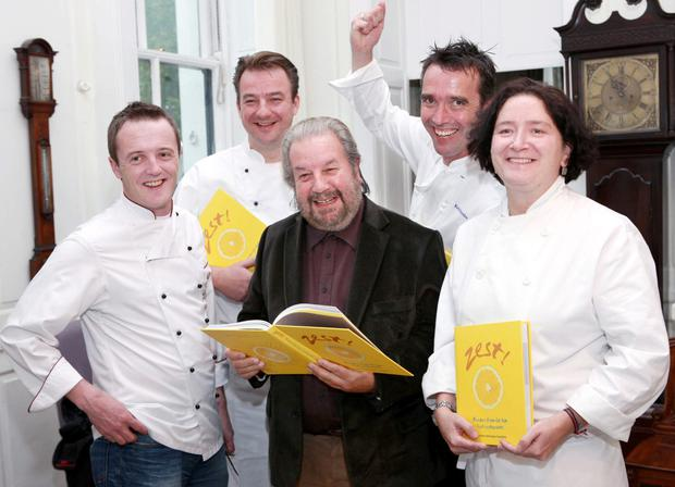 Paolo Tullio at a charity launch with some of Ireland's top chefs