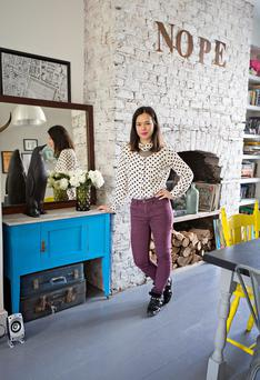 Unusual decor: April and the Bear is an online enterprise, but owner Siobhan likes to combine that with an occasional physical presence in the form of pop-ups