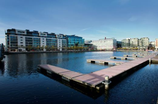 The high life: Grand Canal Dock, one of the most expensive areas in Ireland for rentals
