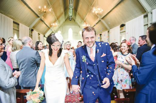 Grace O'Hara & Gareth Bowed tied the knot in a humanist ceremony at Mount Druid, Co Westmeath