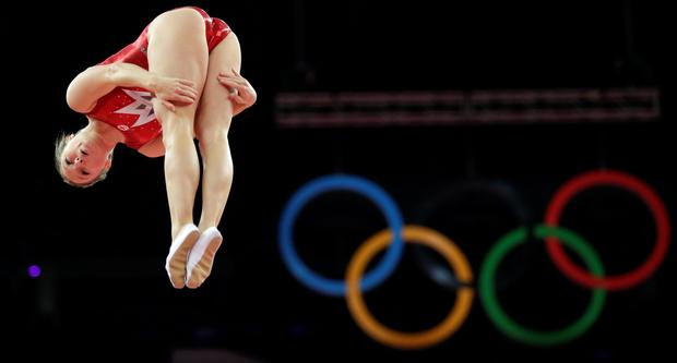 In a spin: Canada's Rosannagh Maclennan at the 2012 Summer Olympics, but will any of us be able to watch in 2020?