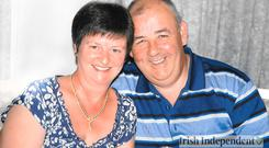 Martina Hayes and her husband Larry Hayes, who were both killed in the Terror attack in Tunisia.