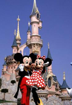 Mickey and Mini Mouse at Disneyland, Paris